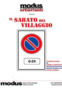 Locandina Il Sabato del villaggio Orti Erranti Verona Teatro Valentina Stevan Castelletti