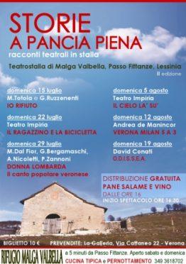 Locandina Storie a Pancia Piena 2012 Impiria Modus Verona