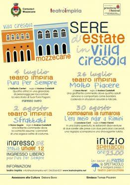 Locandina Villa Ciresola Mozzecane Impiria Modus Verona