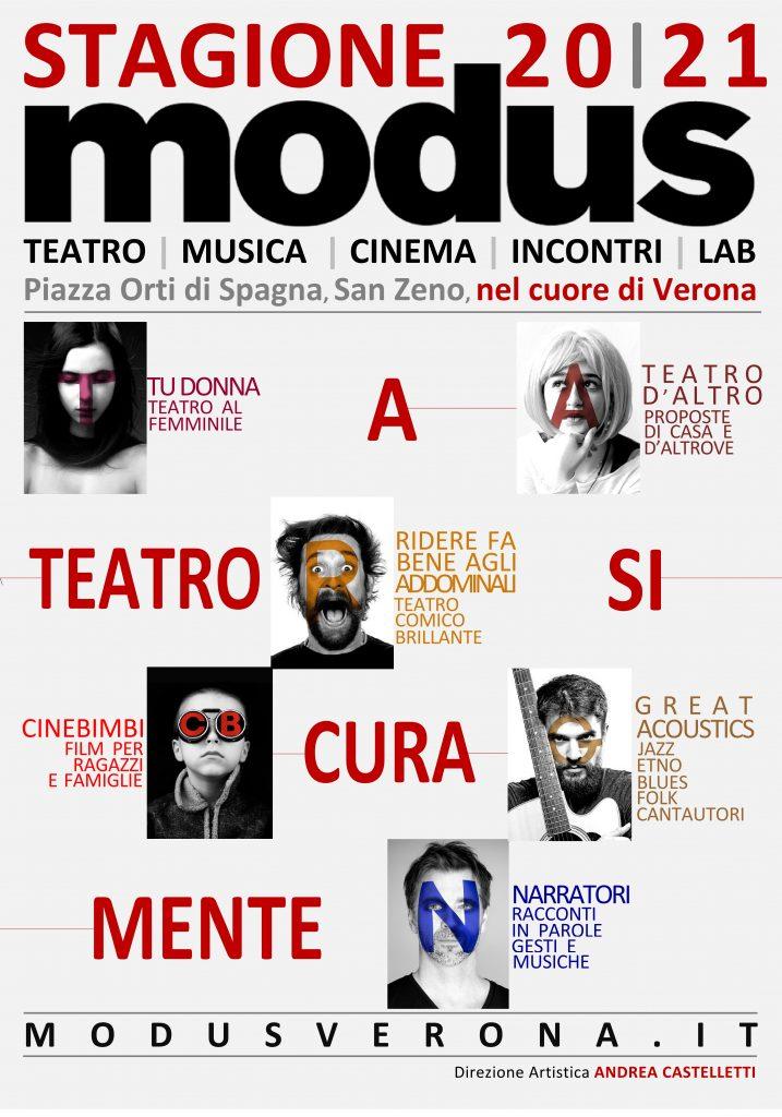 Manifesto Stagione Modus 20-21 Teatro