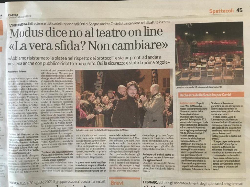 articolo l'Arena-Modus Verona-Castelletti