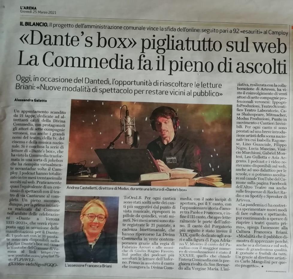 Modus Dante Arena di Verona