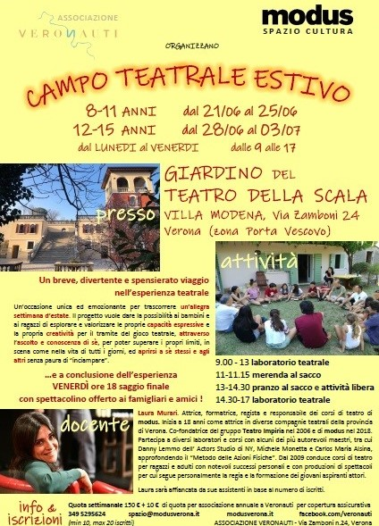 Corso Teatro Estate Modus Verona